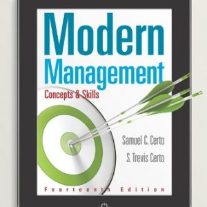 Solution Manual for Modern Management: Concepts and Skills