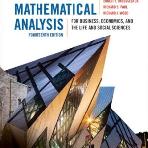 Solution Manual for Introductory Mathematical Analysis