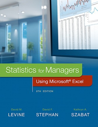 Solution Manual for Statistics for Managers Using Microsoft Excel