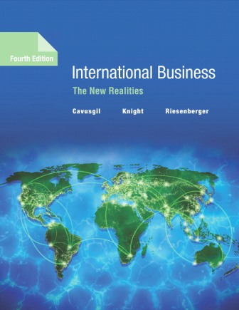 Test Bank for International Business: The New Realities