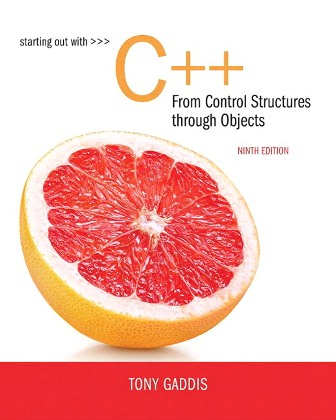 Solution Manual for Starting Out with C++ from Control Structures to Objects