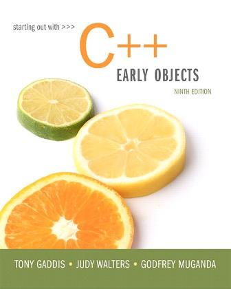 Solution Manual for Starting Out with C++: Early Objects