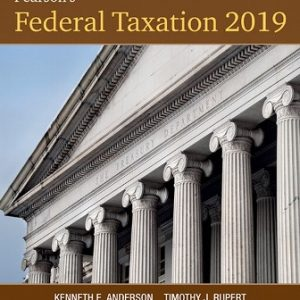 Solution Manual for Pearson's Federal Taxation 2019 Corporations