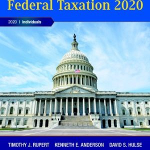 Solution Manual for Pearson's Federal Taxation 2020 Individuals
