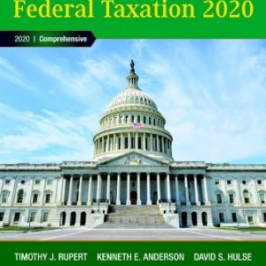 Solution Manual for Pearson's Federal Taxation 2020 Corporations