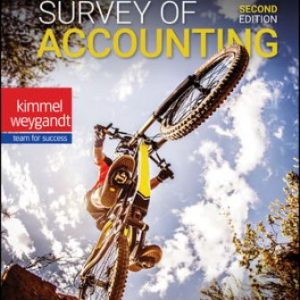 Solution Manual for Survey of Accounting 2nd Edition Kimmel