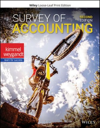 Test Bank for Survey of Accounting 2nd Edition Kimmel