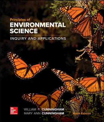 Solution Manual for Principles of Environmental Science 9th Edition Cunningham ISBN10: 1260219712