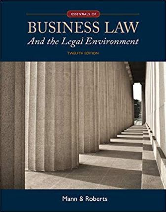 Test Bank for Essentials of Business Law and the Legal Environment