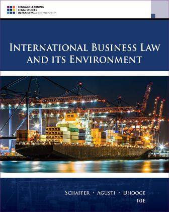 Test Bank for International Business Law and Its Environment