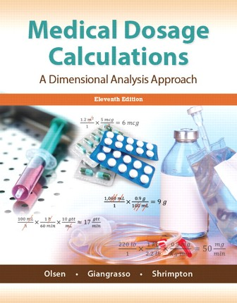 Test Bank for Medical Dosage Calculations 11th Edition Olsen