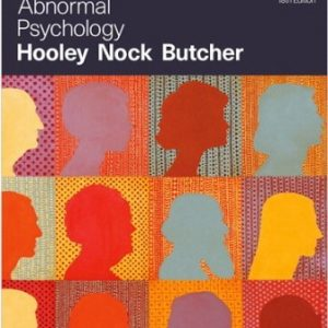 Test Bank for Abnormal Psychology 18/E Hooley ISBN-10: 0135212170