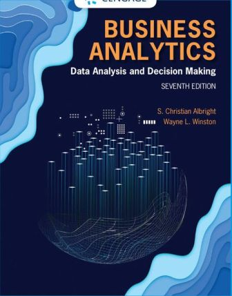 Test Bank for Business Analytics: Data Analysis and Decision Making 7th Edition Albright ISBN-10: 0357109953