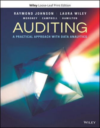 Test Bank for Auditing: A Practical Approach with Data Analytics 1st Edition Johnson