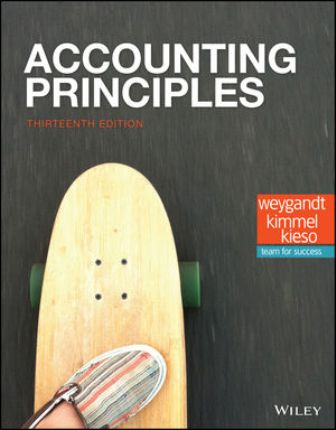 Solution Manual for Accounting Principles 13th Edition Weygandt ISBN: 1119411017