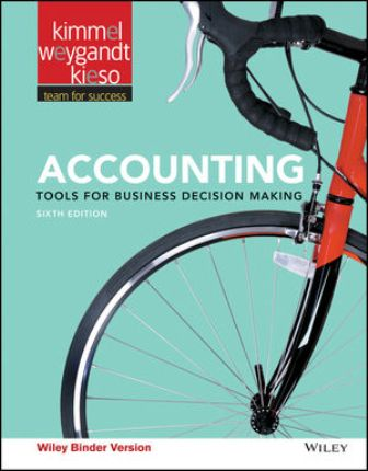 Solution Manual for Accounting: Tools for Business Decision Makers 6th Edition Kimmel ISBN : 111919167X