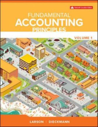 Solution Manual for Fundamental Accounting Principles Vol 1 16th Edition Larson
