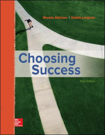 Test Bank for Choosing Success 3rd Edition Atkinson