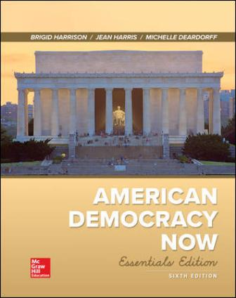 Test Bank for American Democracy Now, Essentials 6th Edition Harrison