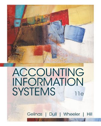 Solution Manual for Accounting Information Systems 11th Edition Gelinas ISBN-10: 1337552127