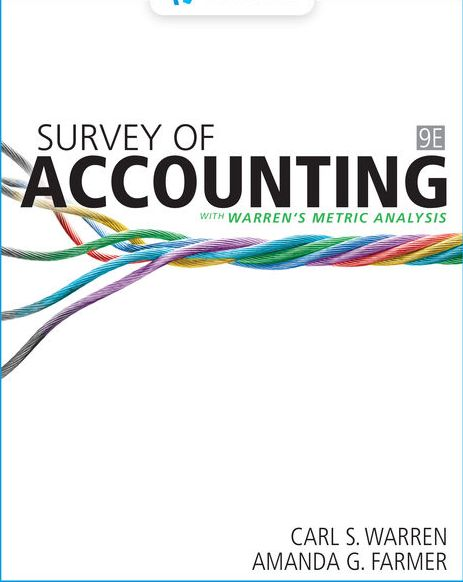 Test Bank for Survey of Accounting 9th Edition Warren