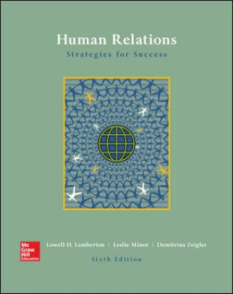 Test Bank for Human Relations 6th Edition Lamberton