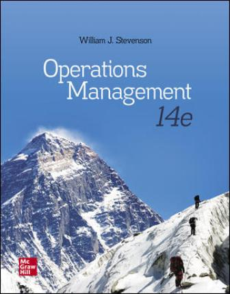 Test Bank for Operations Management 14th Edition Stevenson
