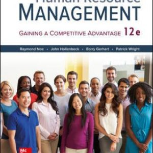 Solution Manual for Human Resource Management 12th Edition Noe