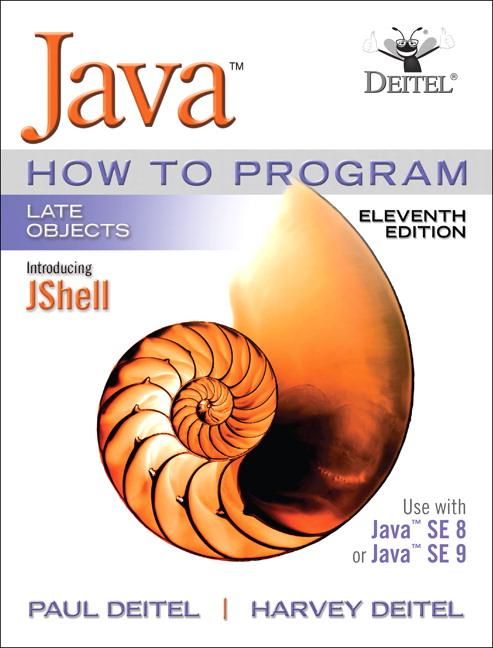 Solution Manual for Java How To Program, Late Objects 11th Edition Deitel
