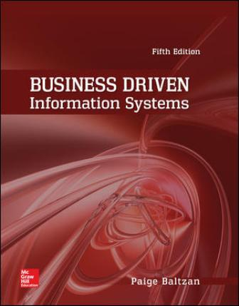 Test Bank for Business Driven Information Systems 5th Edition Baltzan
