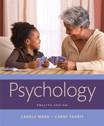 Test Bank for Psychology 12th Edition Wade