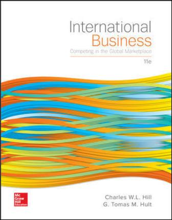 Test Bank for International Business: Competing in the Global Marketplace, 11th Edition Hill