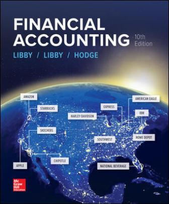Solution Manual for Financial Accounting, 10th Edition, Robert Libby, Patricia Libby, Frank Hodge, ISBN10: 1259964949, ISBN13: 9781259964947