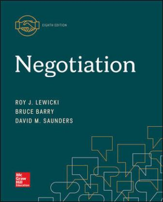 Solution Manual for Negotiation, 8th Edition Lewicki