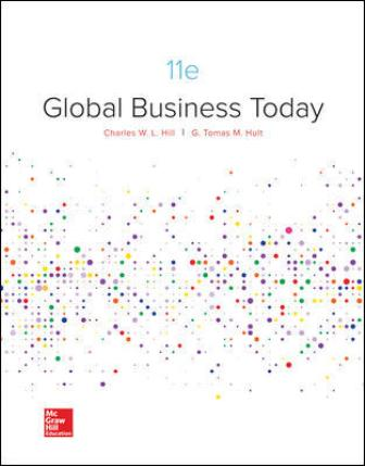 Test Bank for Global Business Today, 11th Edition Hill