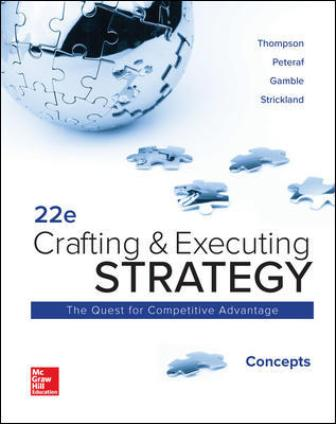 Solution Manual for Crafting and Executing Strategy: Concepts 22nd Edition Thompson Jr