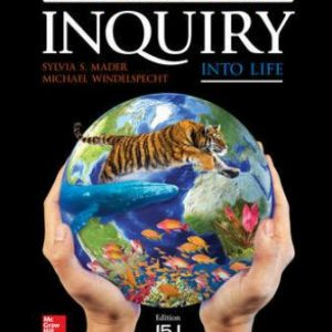 Test Bank for Inquiry into Life: Relevancy Update, 15th Edition Mader
