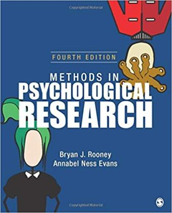 Test Bank for Methods in Psychological Research 4th Edition Rooney