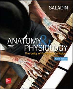 Test Bank for Anatomy & Physiology: The Unity of Form and Function, 8th Edition, By Saladin