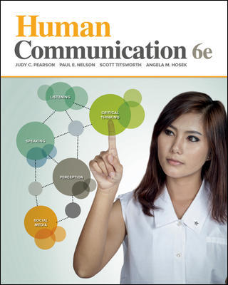 Test Bank for Human Communication, 6th Edition Pearson