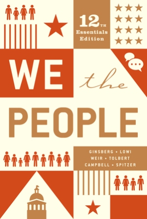 Test Bank for We the People Essentials 12th Edition Ginsberg
