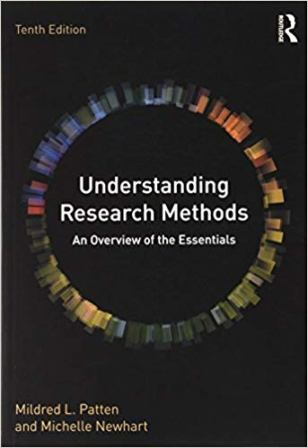 Test Bank for Understanding Research Methods 10th Edition, by Patten