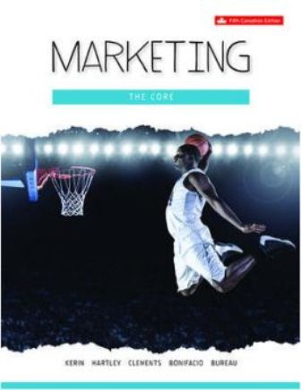 Test Bank for Marketing: The Core 5th Canadian Edition Kerin
