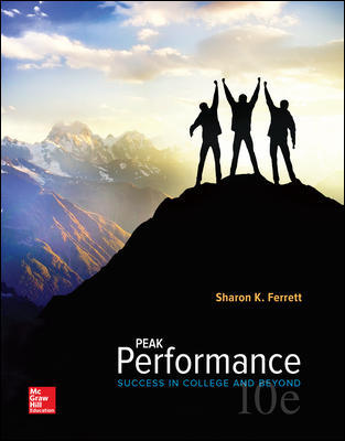 Test Bank for Peak Performance: Success in College and Beyond, 10th Edition Ferrett