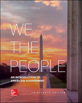 Test Bank for We The People, 13th Edition Patterson