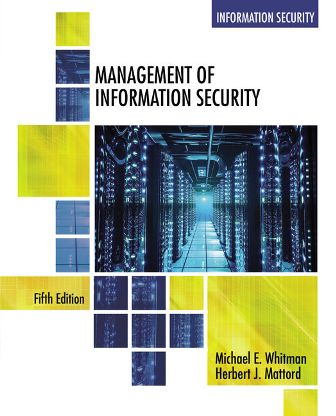 Test Bank for Management of Information Security 5th Edition Whitman