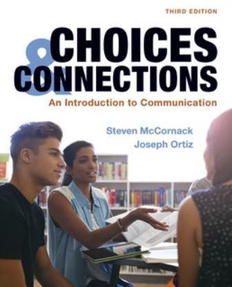 Test Bank for Choices and Connections An Introduction to Communication 3rd Edition McCornack