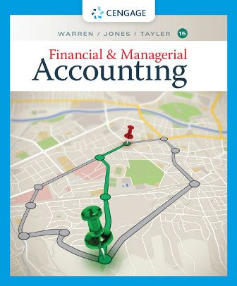 Test Bank for Financial and Managerial Accounting 15th Edition Warren