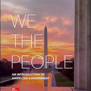 Solution Manual for We The People, 13th Edition Patterson