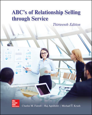 Test Bank for ABC's of Relationship Selling through Service 13th Edition Futrell